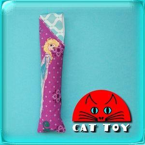 Frozen Elsa Catnip Cat Toy kicker NWT OOAK purple